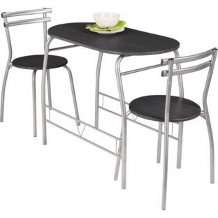 Buy Vegas Dining Table and 2 Chairs Black at Argos Your