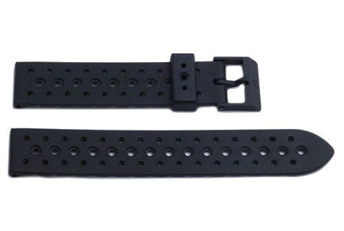 Genuine Synthetic Rubber Black Regular 19mm Watch Band by Swiss Army - http://www.specialdaysgift.com/genuine-synthetic-rubber-black-regular-19mm-watch-band-by-swiss-army/