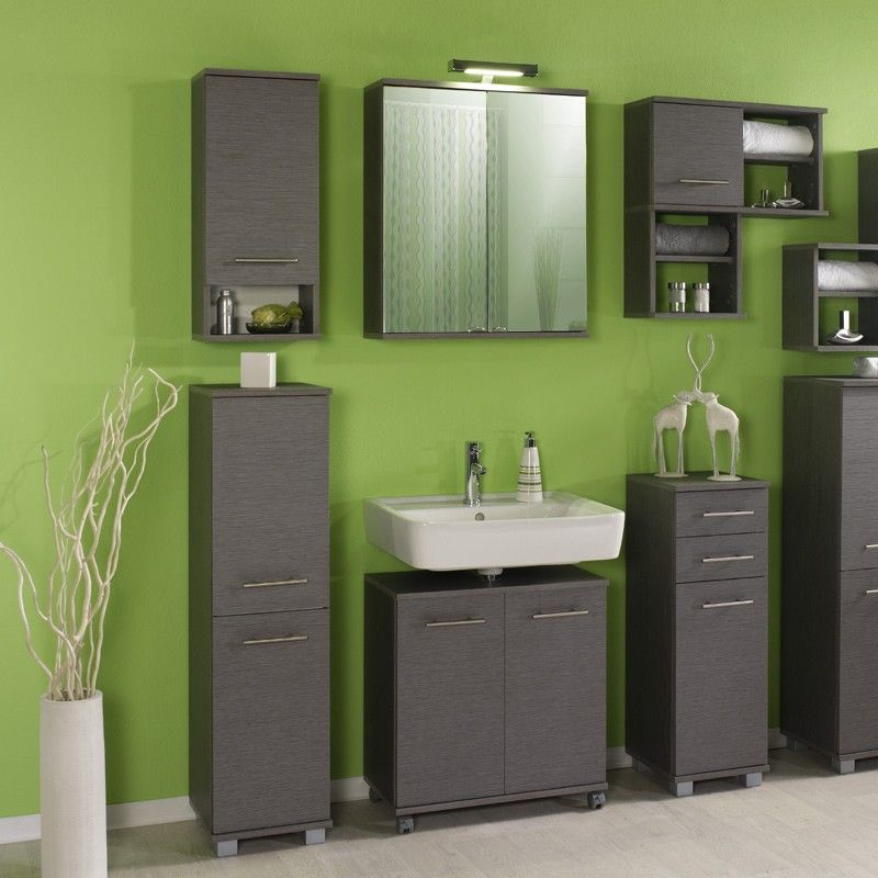 Beautiful Badezimmer Set in Wei Grau mit Spiegelschrank teilig Jetzt bestellen unter