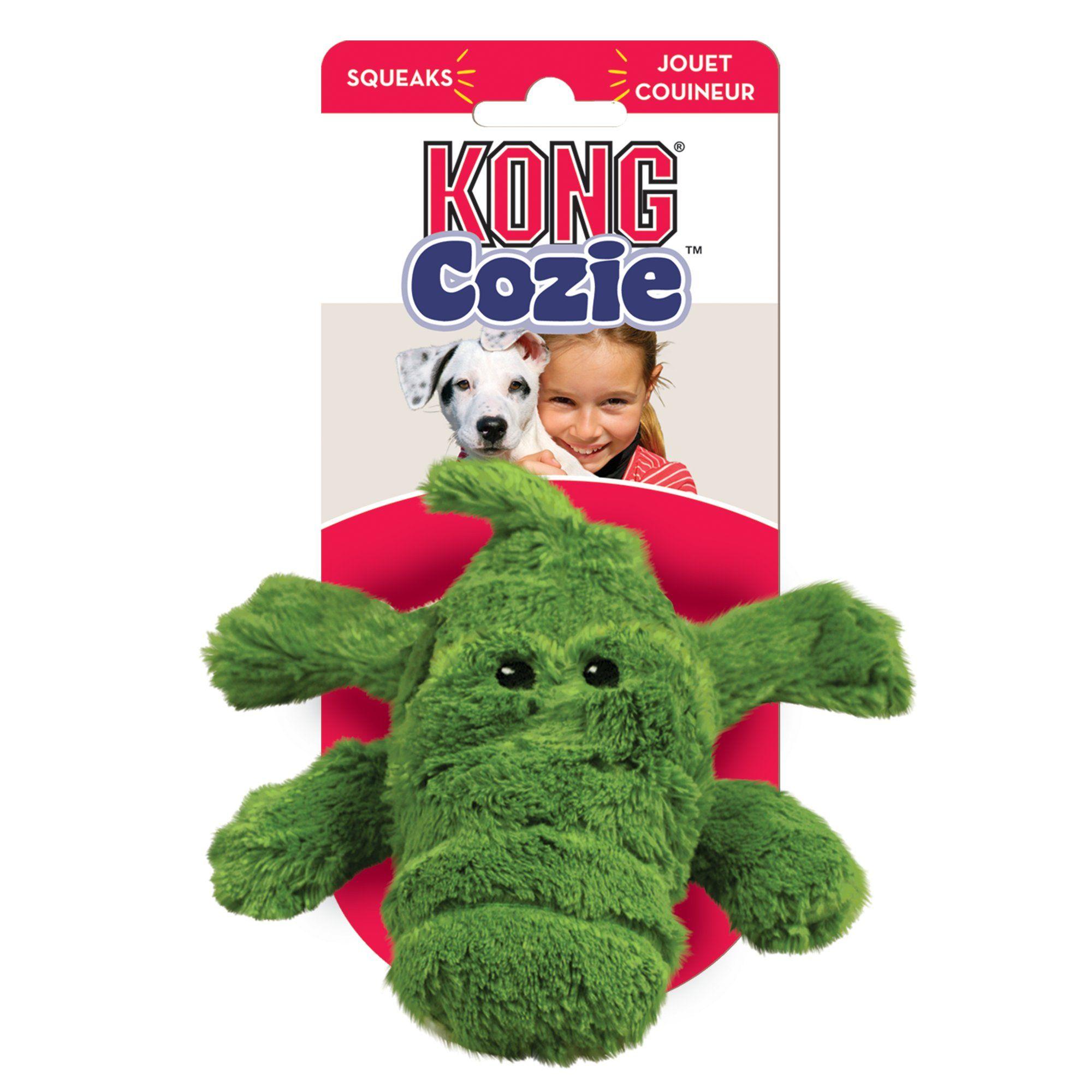 Kong Cozies Alligator Dog Toy Medium Green Small Dog Toys Dog