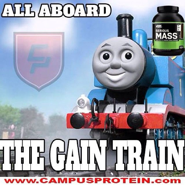 Get On The Gain Train Campusprotein Www Campusprotein Com Thomas Meme Thomas And Friends Thomas The Tank Engine