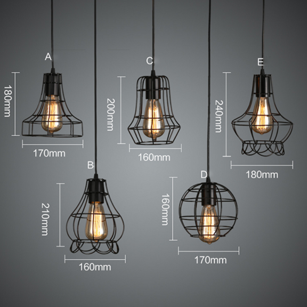 Rustic Wire Cage Industrial Pendant Ceiling Light In 2020