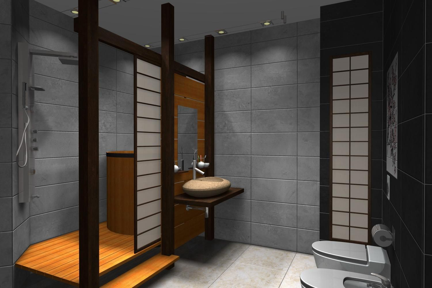 Gallery Of Modern Design Japanese Style Bathroom Homyxl Ideas Unique Luxury Bathroom Lighting Fixtures Design Decoration