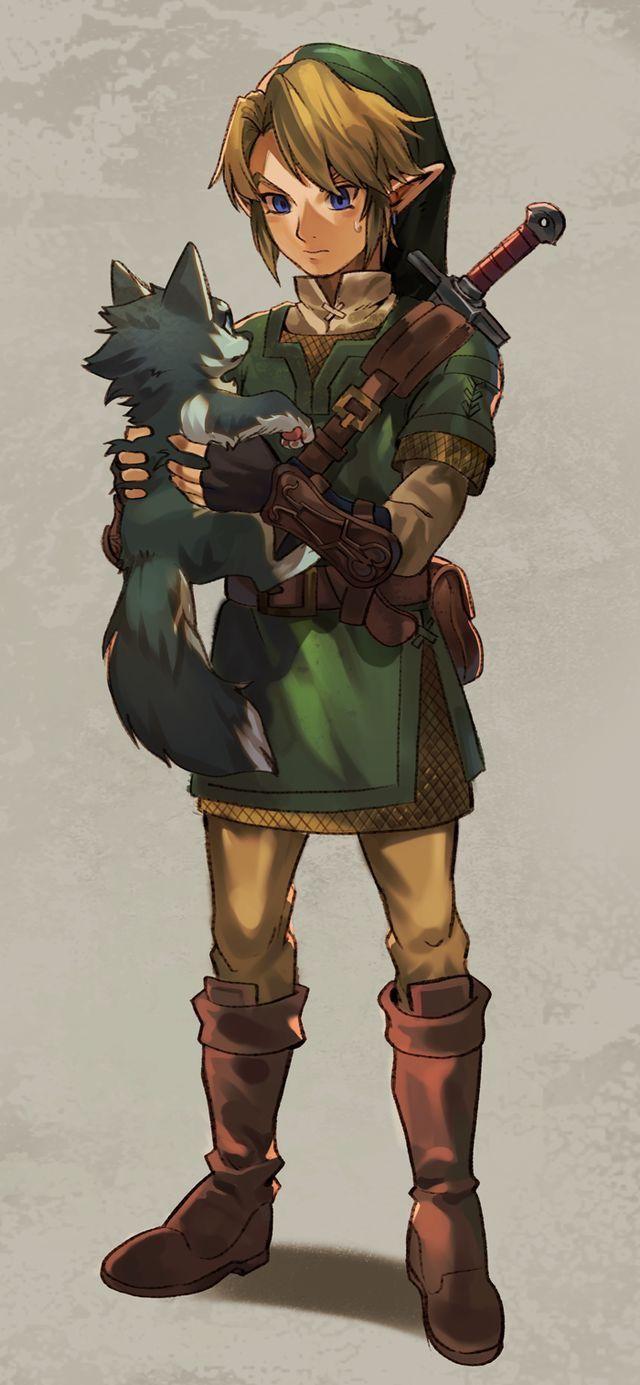 Aww Link Holding A Puppy Zelda Legend Of Zelda Legend