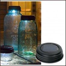 Solar Mason Jar Lid Light
