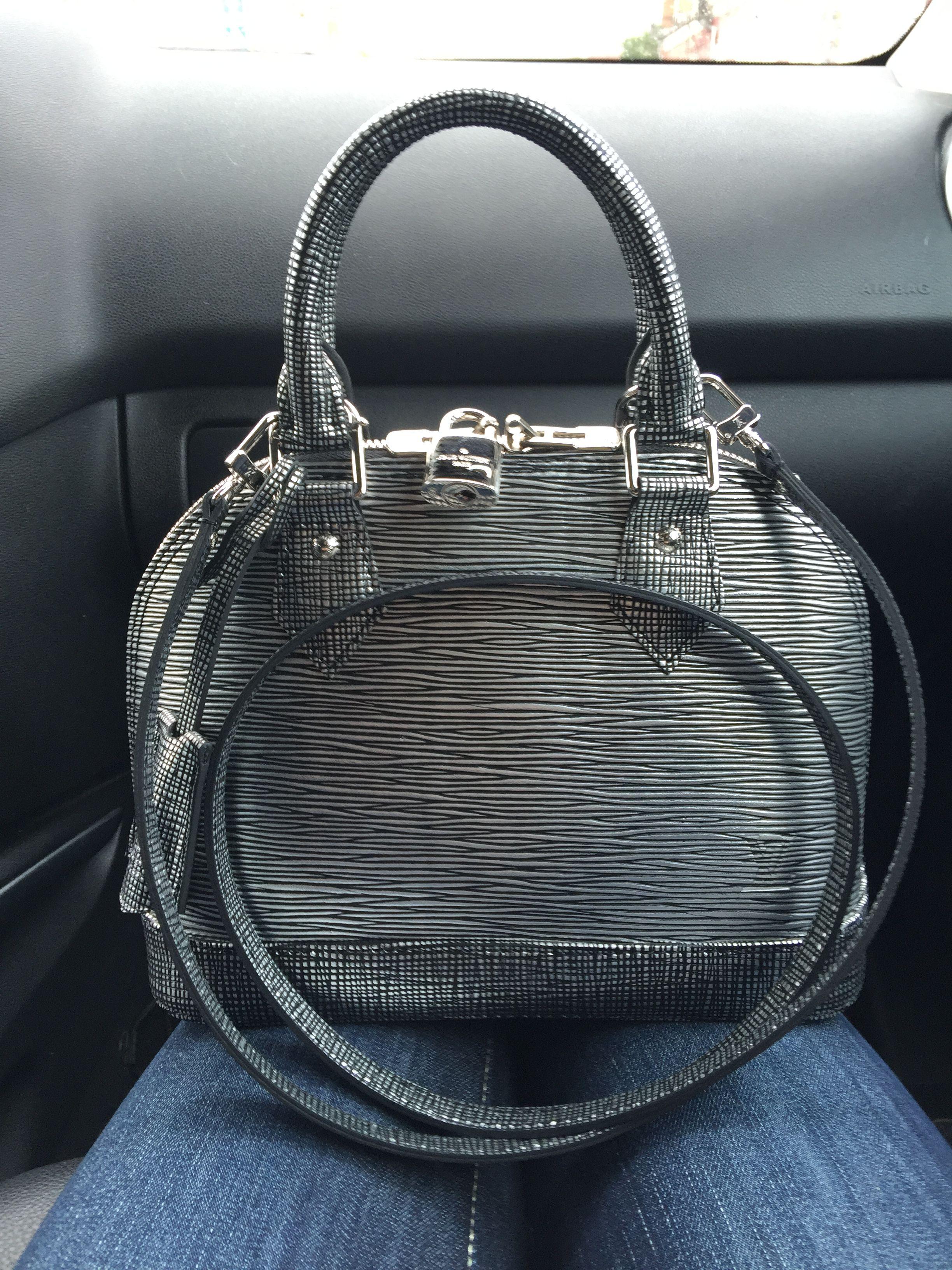 3a5a6e5460ff Louis Vuitton Alma BB black silver 2016 limited edition