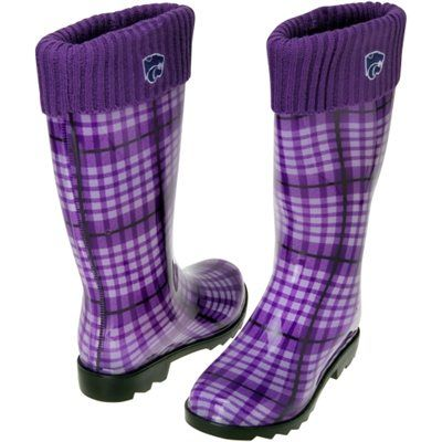 Kansas State Wildcats Women's Rain Boots - Purple | Rain boot