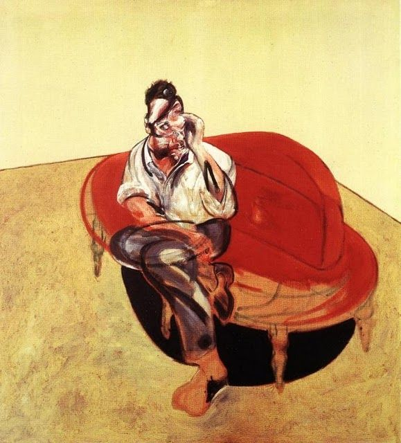 """""""Retrato de Lucian Freud en sillón naranja"""" / """"Retrato de Lucian Freud on Orange Couch"""", Francis Bacon, 1965"""