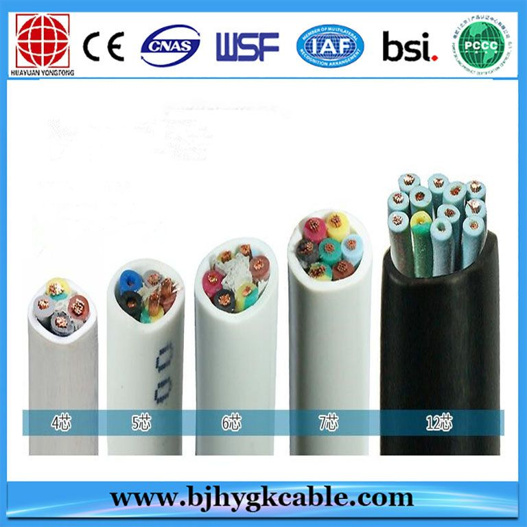 Pvc Insulated Sheathed Flat Control Cable Low Voltage For Construction Cable Construction Mugs