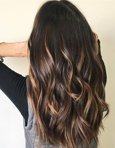Balayage Dark Brown Hair Color Ideas For Spring Season 2018