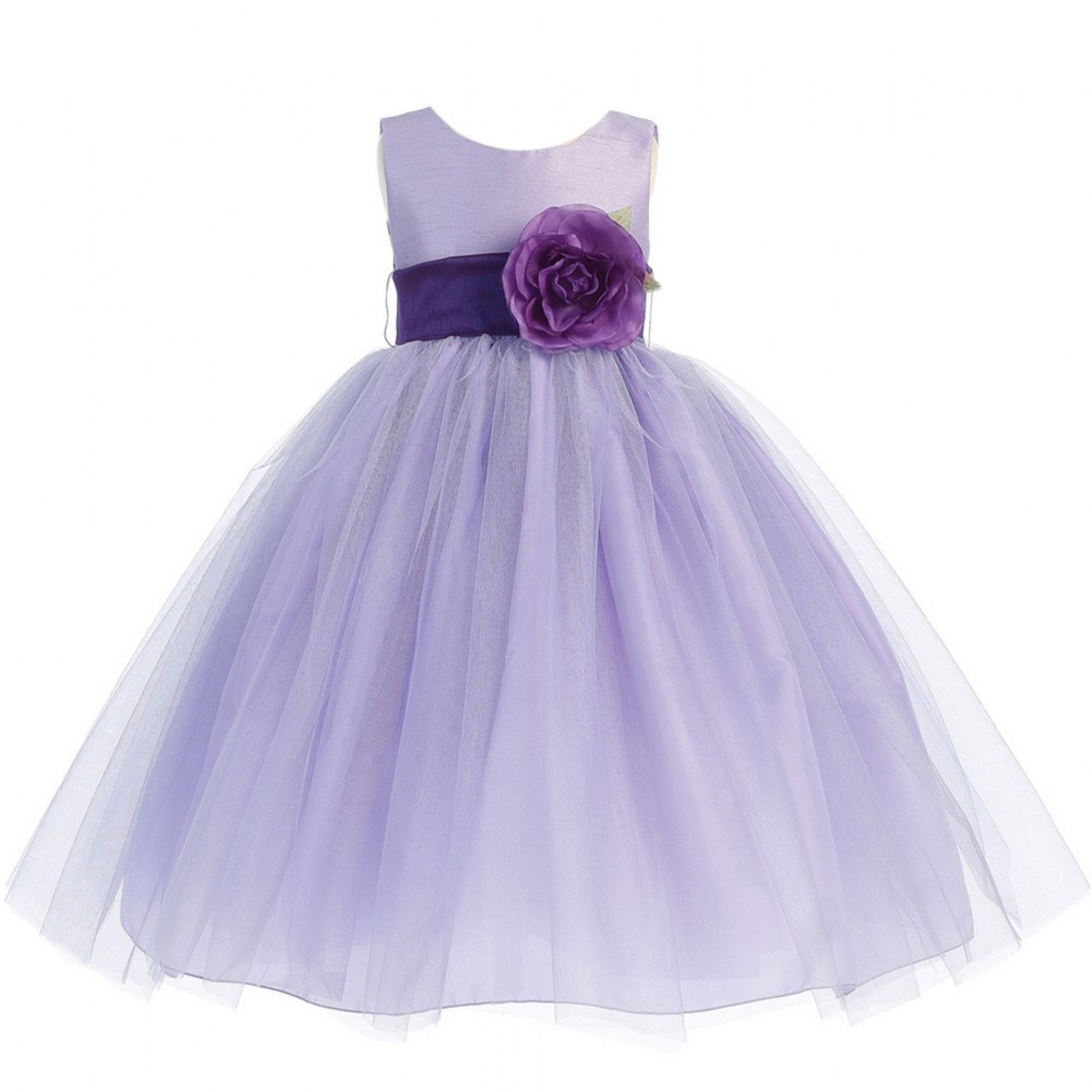 Lito big girls lilac purple sash poly silk tulle flower girl dress 7 lito big girls lilac purple sash poly silk tulle flower girl dress 7 12 ombrellifo Gallery