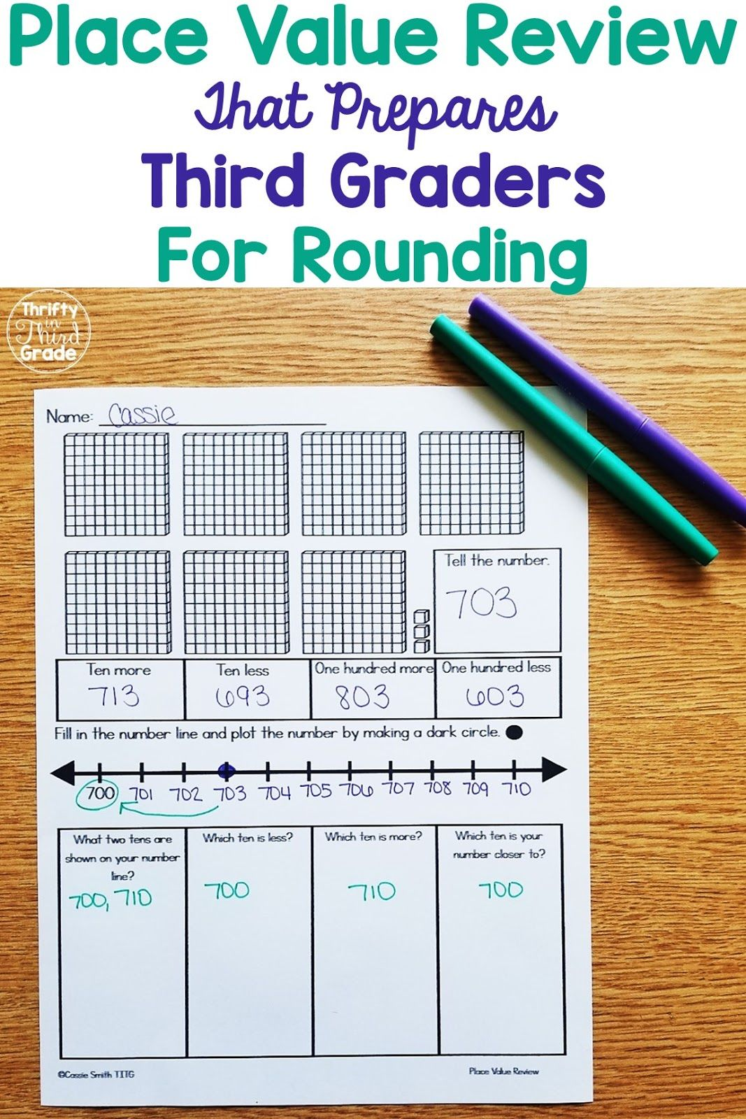 Place Value Review For Incoming Third Graders In
