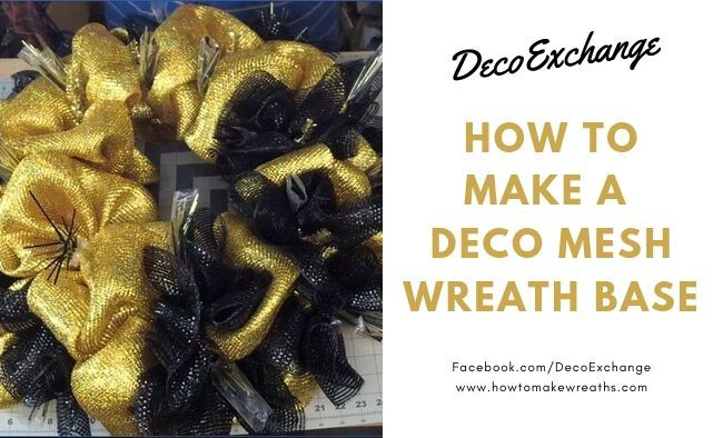 How To Make A Deco Mesh Wreath Base How To Make Wreaths #decomeshwreaths