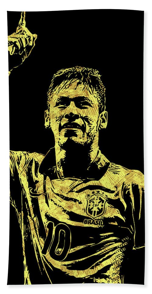Neymar Fan Art Beach Towel For Sale By Dusan Naumovski Con