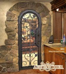 Custom Wrought Iron Wine Cellar Doors With Images Wine Cellar