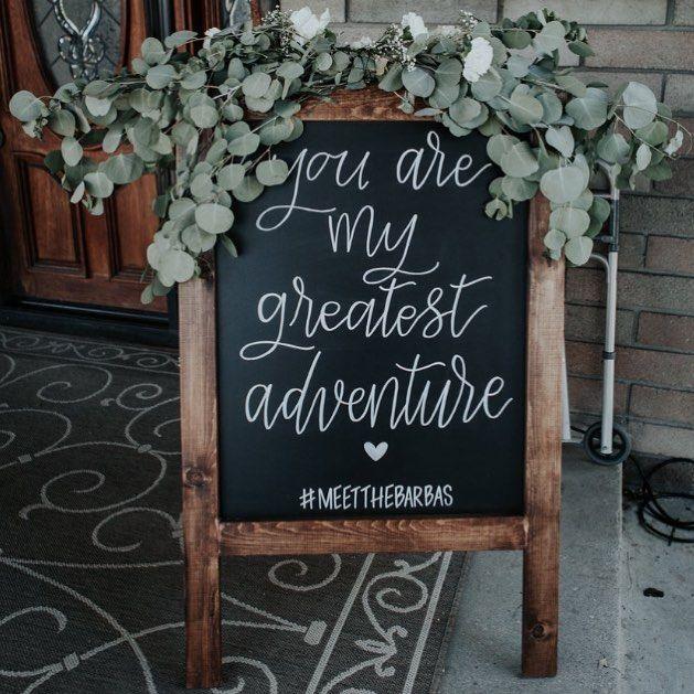 Wedding Chalkboard Ideas: Wedding Welcome Sign