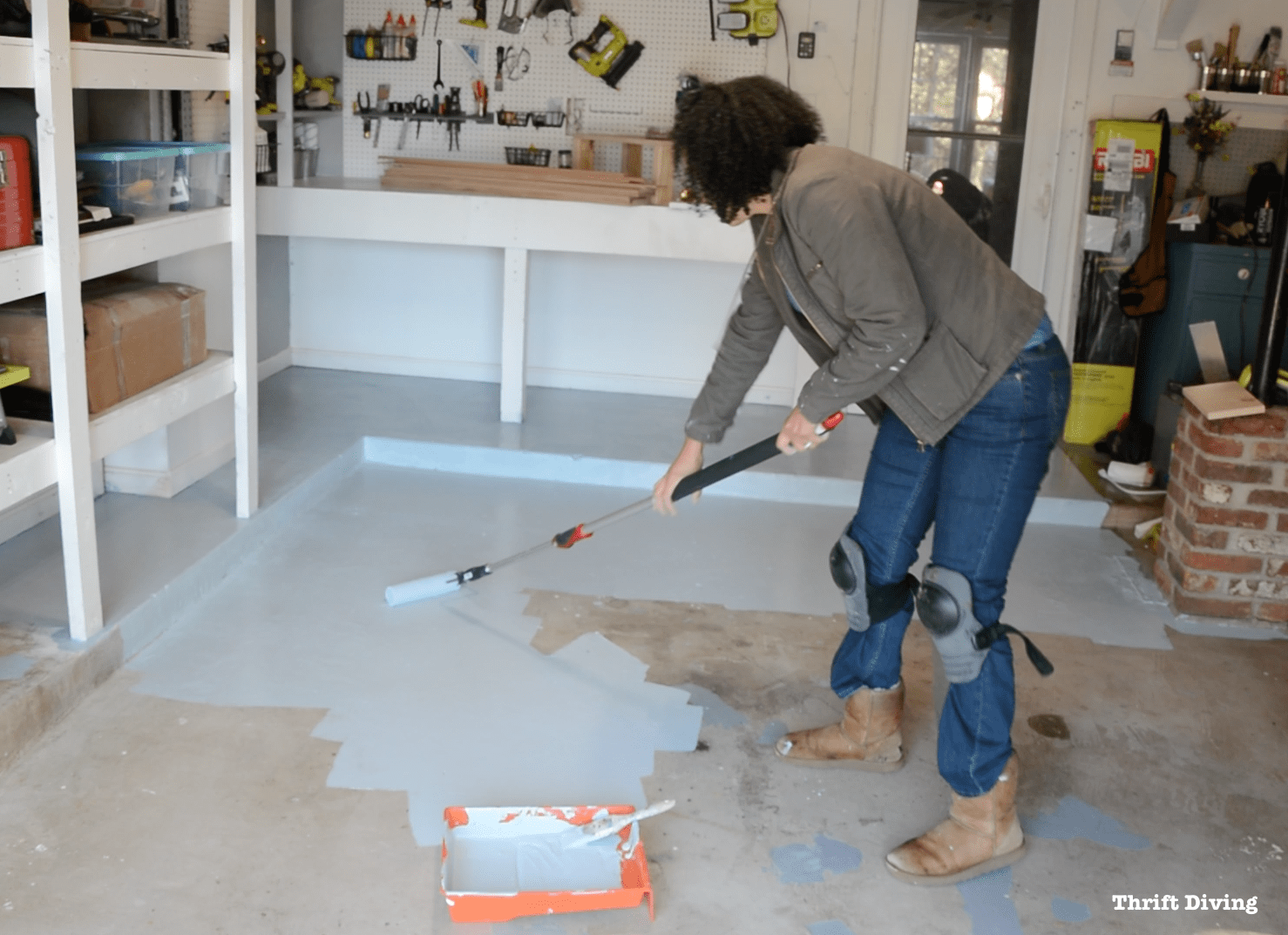 How To Paint Garage Floors With 1 Part Epoxy Paint Garage Floor Paint Garage Floor Epoxy Floor Paint