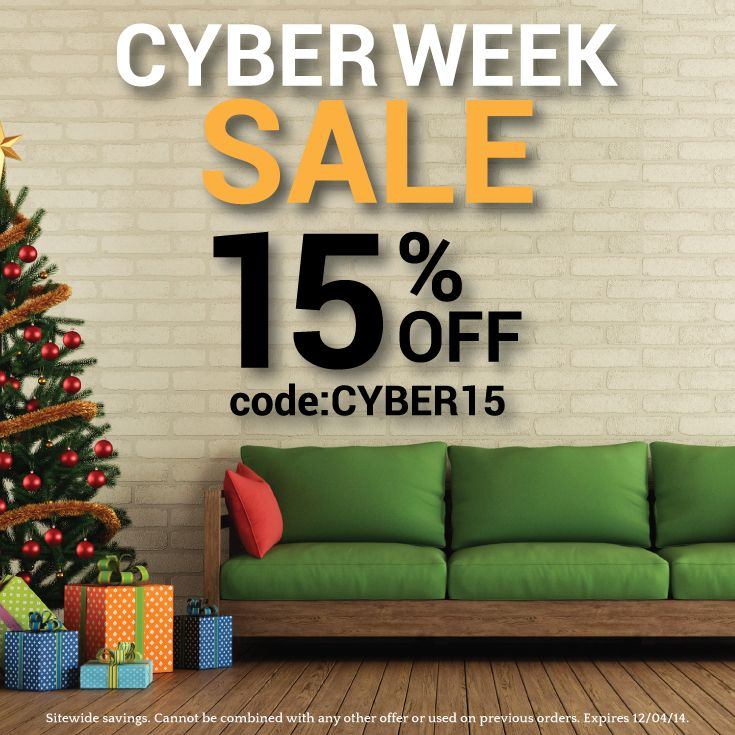 Cyber Week Sale: Save 15% Sitewide By Using Promo Code
