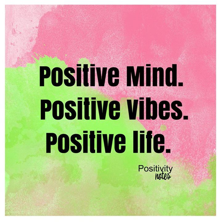 The power of positivity :)