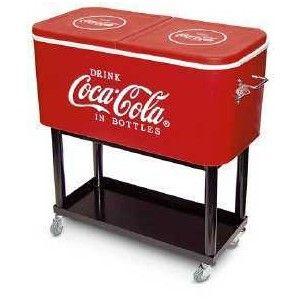 Coca Cola Rolling Cooler Camping Furniture Cocacola