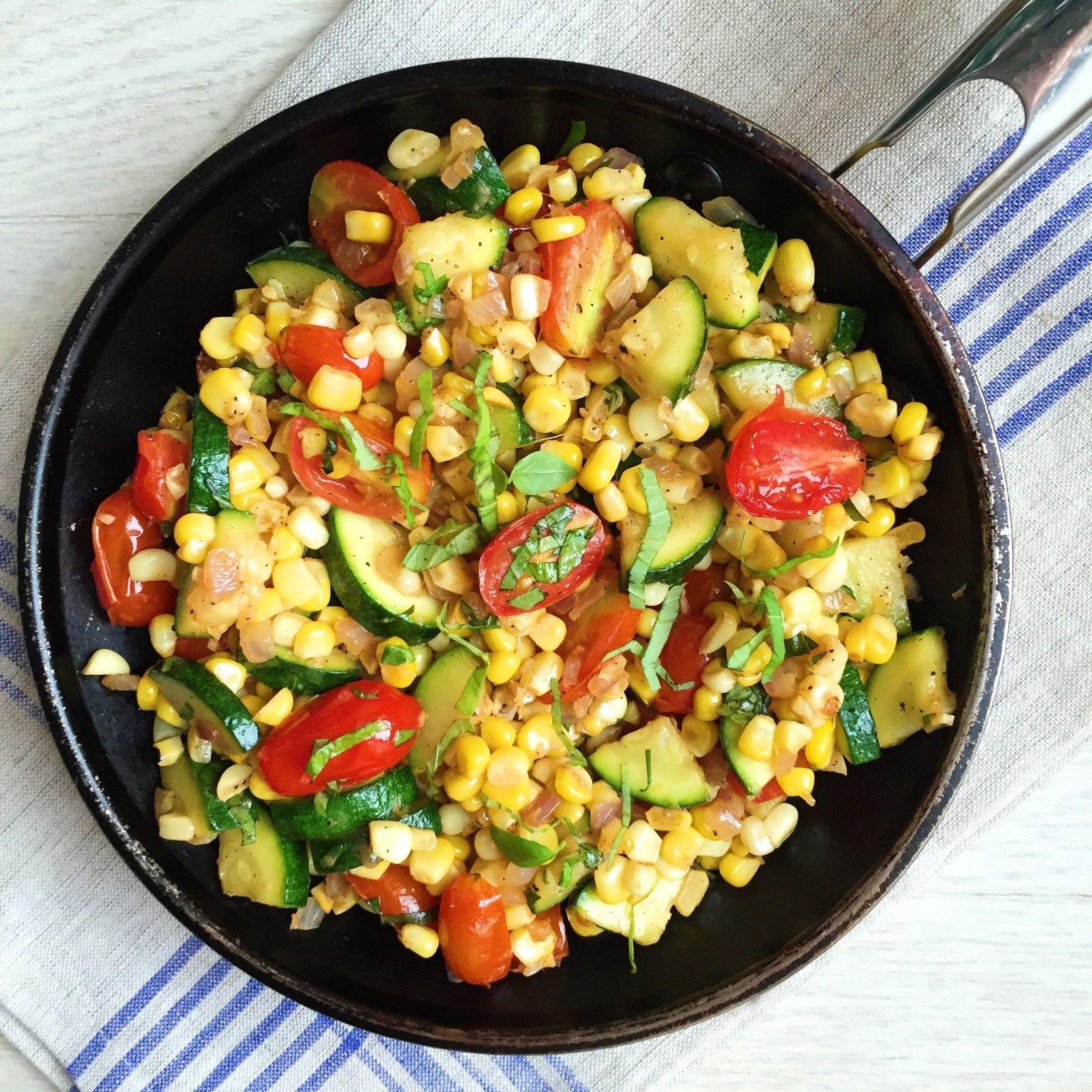 Corn, Zucchini, and Tomato Skillet Sauté