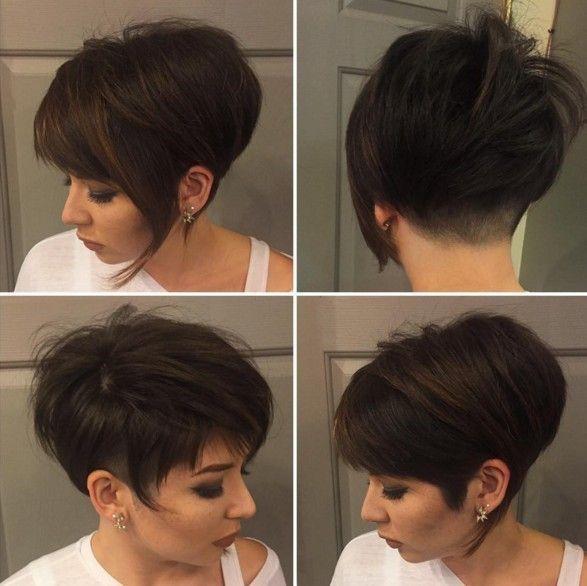 korta mörka frisyrer