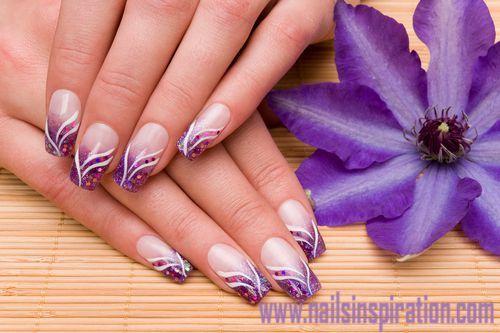 Purple Acrylic 3d Nail Art Nailsinspiration Nails