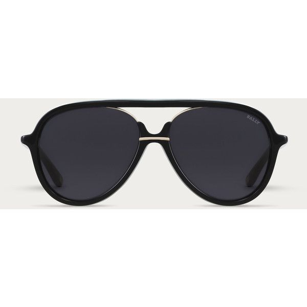 7842cd56d36 Bally Aviator Sunglasses Men s thick frame aviator sunglasses in Black  (120.790 CRC) ❤ liked