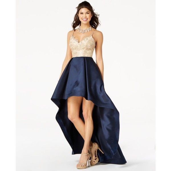 Say Yes to the Prom Juniors\' Lace High-Low Gown, a Style ($149 ...