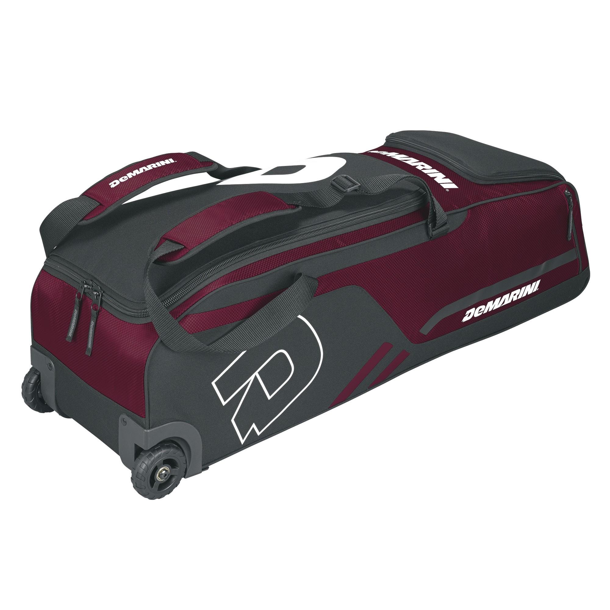 5426c0614b DeMarini Momentum Baseball Softball Wheel Bag - Maroon (Red ...