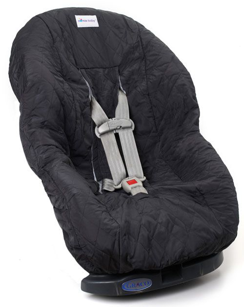 Nomie Baby Toddler Car Seat Cover in Charcoal Gray BRAND NEW!!