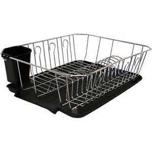 Dish Drying Rack Walmart Beauteous Chef Buddy Wide Overthesink Rollup Drying Rack Stainless Steel Design Ideas