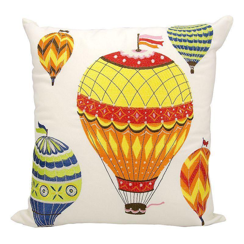 Mina Victory Hot Air Balloon Outdoor Throw Pillow, Multicolor
