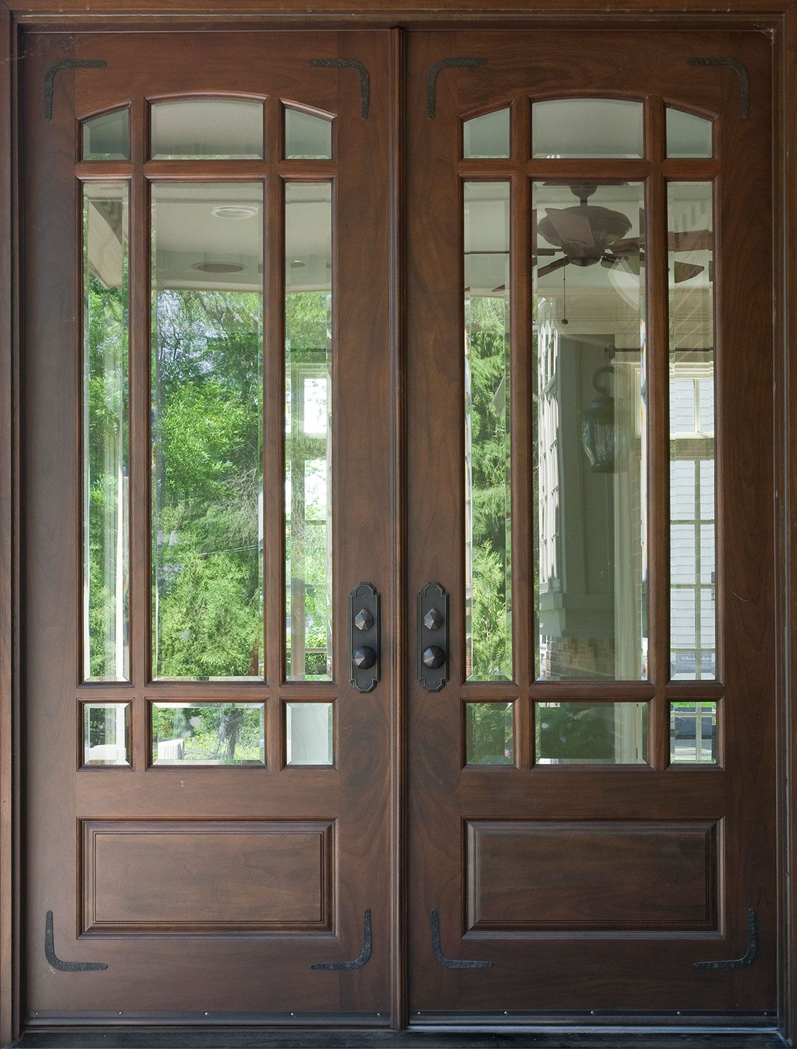 Inspirational Wooden Entry Door with Glass