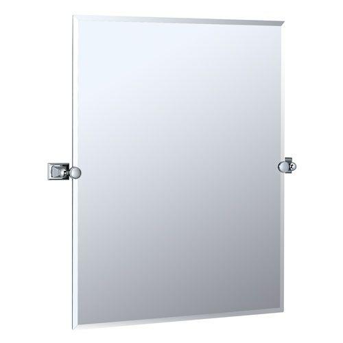 Philadelphia chrome tilting rectangular mirror furniture - Wall mounted tilting bathroom mirrors ...