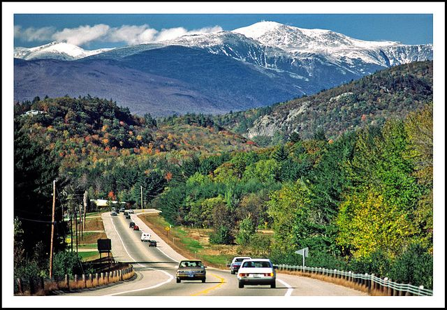 new hampshire highway 16 mount washington white mountains and
