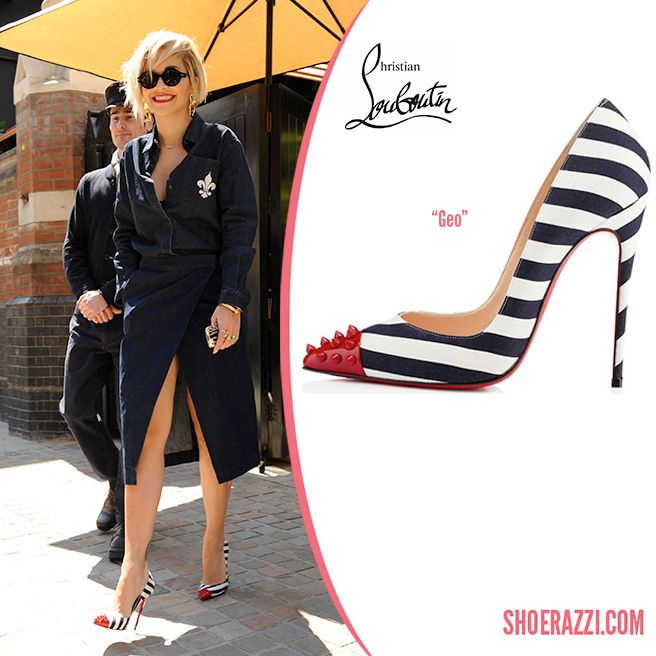 a7917d78291 Rita Ora was spotted leaving her hotel in London wearing Christian Louboutin  Geo pumps. continue reading →