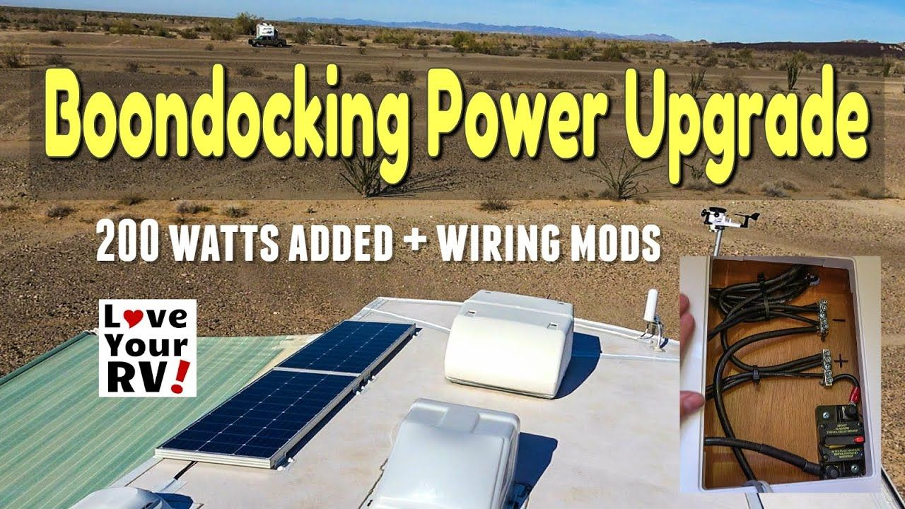 Boondocking Power Upgrade 2 More Solar Panels Wiring Update Mods In 2020 Solar Panels Solar Power System Solar