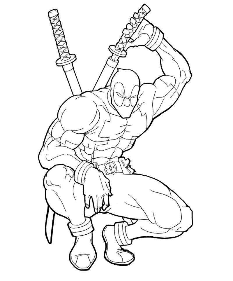 Deadpool Coloring Pages Printable Coloring Pages Kids Cizimler Boyama Sayfalari Cizim