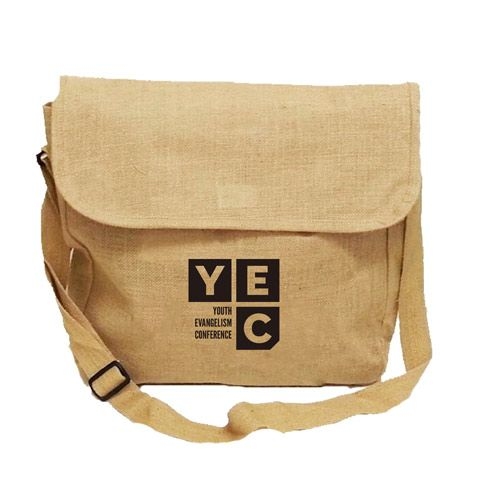 Jute Messenger Bag | Custom Tote Bags | Promotional