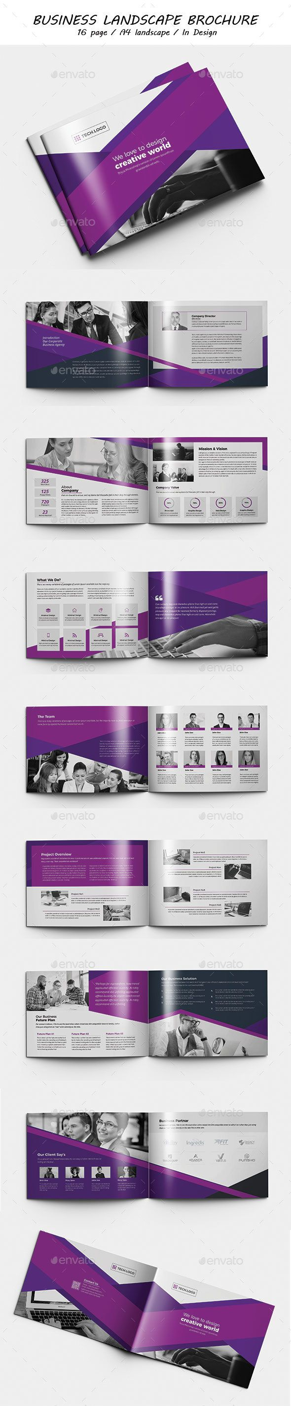Brochure Indesign Template | Revistas, Modelo y Inspiración