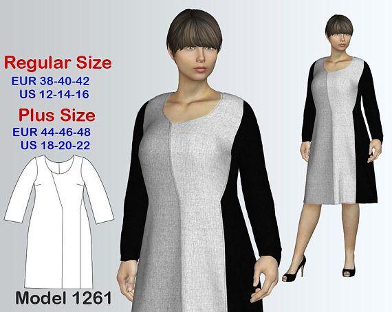 Knit Dress Sewing Pattern Pdf Womens Sizes 12 22 Pdf Sewing