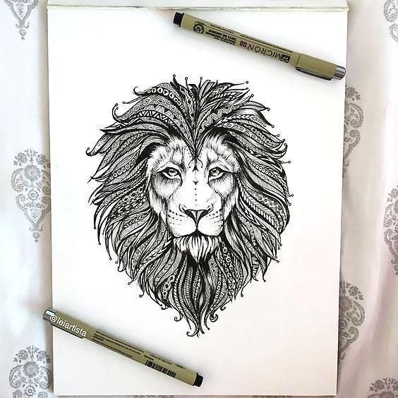 Cool And Creative Lion S Head Color Black Tags Creative Amazing Lion Tattoo Lion Tattoo Design Lion Head Tattoos