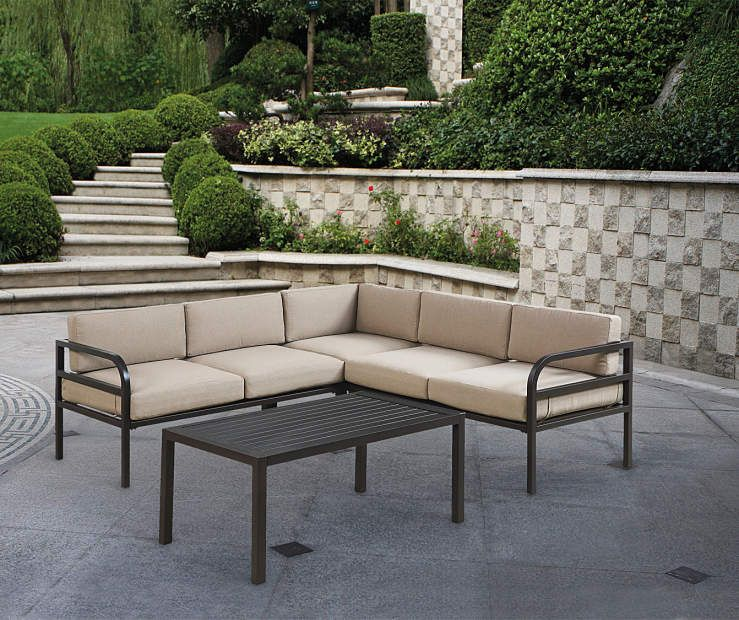 Henderson 4 Piece Sectional Patio Sofa Set At Big Lots Furniture