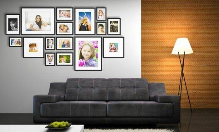 00 Salon Moderne Avec Cadre Pele Mele Mural Les Meilleures Idees