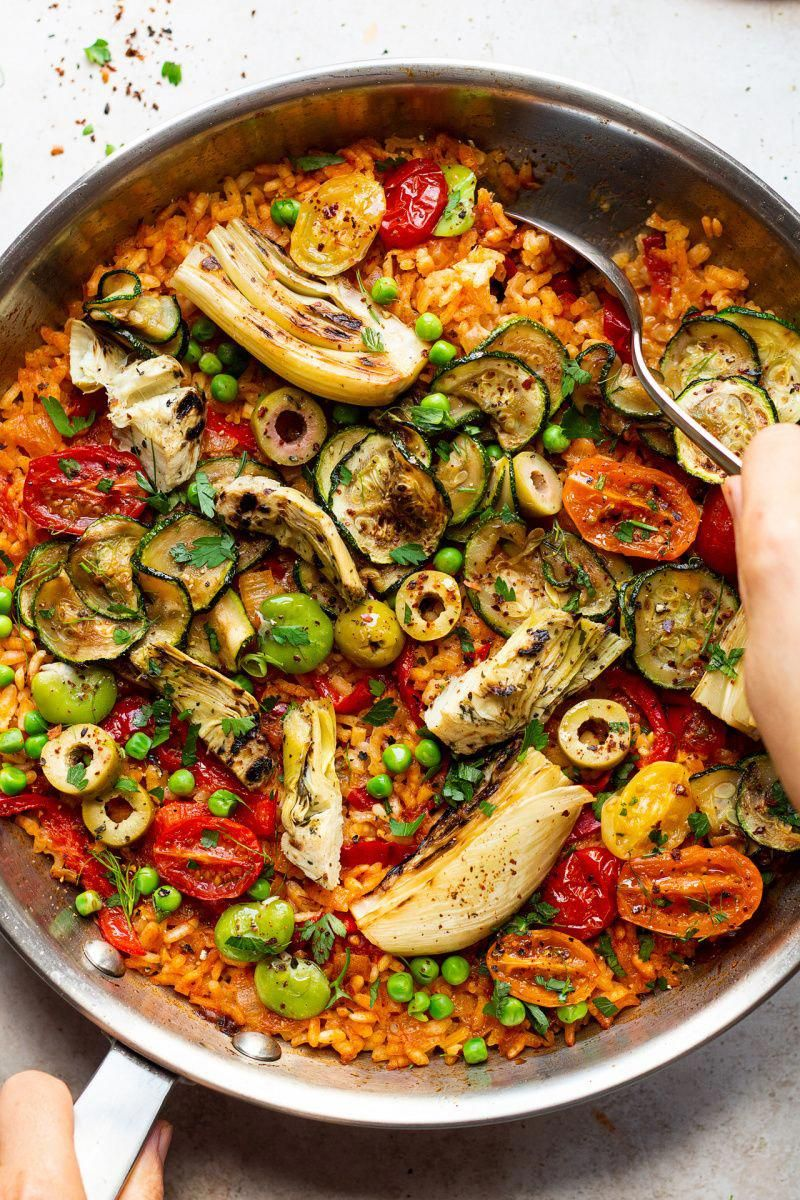 Vegan paella Recipe Food recipes, Lazy cat kitchen
