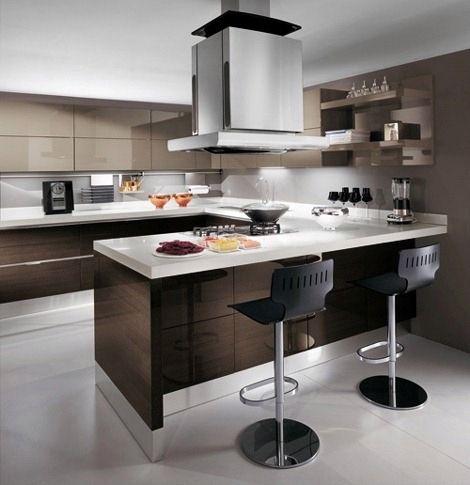 Cocina abierta La casa ideal  Loft Pinterest Cocinas abiertas - cocinas con barra