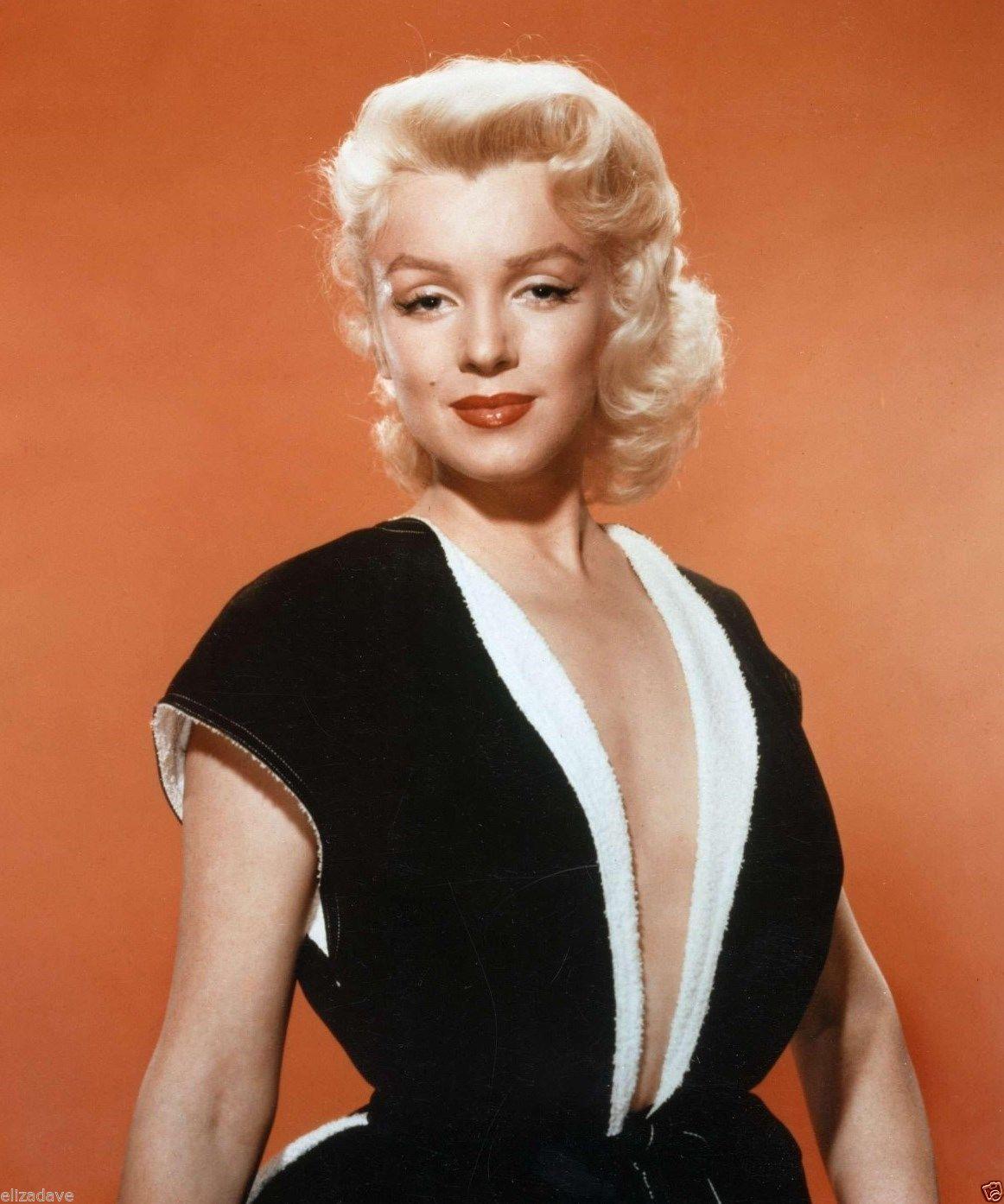 MARILYN MONROE in Low Neckline Dress Rare 8x10 Photo   eBay