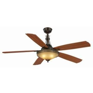 Miramar ii 60 in oil rubbed bronze ceiling fan al60 obb at the home hampton bay miramar ii 60 in indoor oil brushed bronze ceiling fan with light kit and remote the home depot aloadofball Images