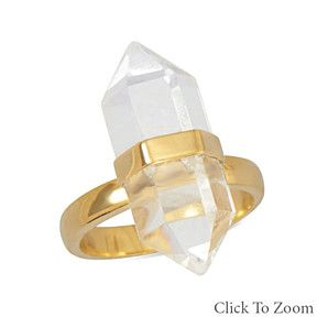 Clear Quartz Gold Ring by Salerno's Jewelry Stores on Opensky